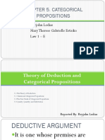Chapter 5. Categorical Proposition