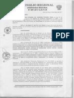 Ordenanza Regional Nº 409-2017