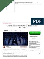 Cómo Descifrar Claves WiFi de Redes Conocidas