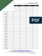 Week Planning Worksheet