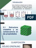 Estructura de Los Materiales Ppt EXPOSICION