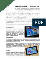 Diferencias Entre Windows 8.1 y 10