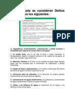 En Venezuela se consideran Delitos Ambientales los siguientes.docx