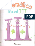 Matematicas Inicial III Editorial Santillana