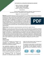 Efecto de Grupos Desactivantes en La Nitración de Derivados Del Benceno