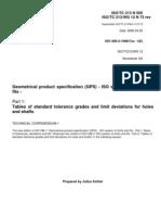 213N505 - Sugesstion for ISO286-2 Corrigendum