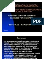Pórticos y muros de concreto diseñado por desempeño