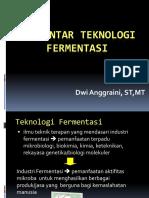 Pengantar teknologi fermentasi