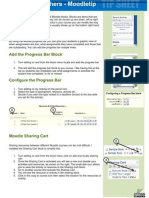 Moodle, blocks, progress bar, Sharing Cart, Quickmail