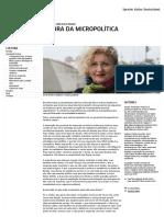 Entrevista Com Suely Rolnik_ a Hora Da Micropolítica - Goethe-Institut Brasilien