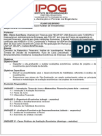 3 - PLANO de ENSINO_Auditoria_Avaliações e Perícias Da Engenharia