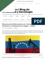 Estado_ Pobreza y Pauperismo en Venezuela (1999 - 2015)
