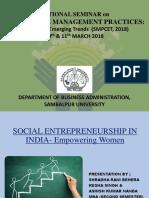 Social Entrepreneurship in India (Empowering Women)