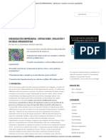ORGANIZACIÓN EMPRESARIAL _ Definiciones ,Evolución y Escuelas Organizativas