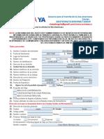 Formato Visa Americana