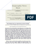 Anthroposophic News Sheet
