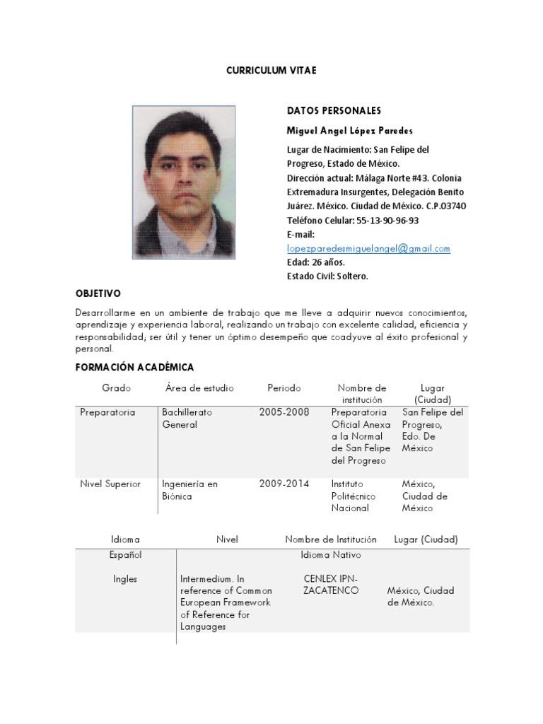 Excelente Mi Curriculum Vitae óptimo Wyotech Patrón - Ejemplo De ...