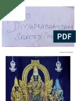 4000 Divyaprabhandam Selected Pasurams