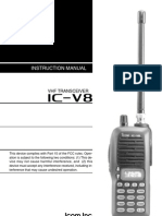Icom IC-V8 Instrutction Manual