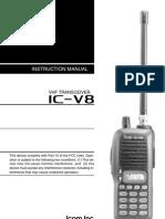 Icom IC-V8 Instrutction Manual