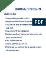 Cara Menggunakan Alat Sterilisator