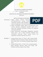 SK 2540 2016 Tentang Struktur Inti Organisasi UI 2016-2019 (1)