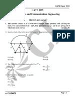 GATE ECE 1999 Actual Paper