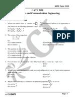 GATE ECE 2008 Actual Paper