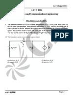 GATE ECE 2002 Actual Paper