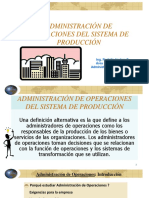 Administración de Operaciones Del Sistema de Producción