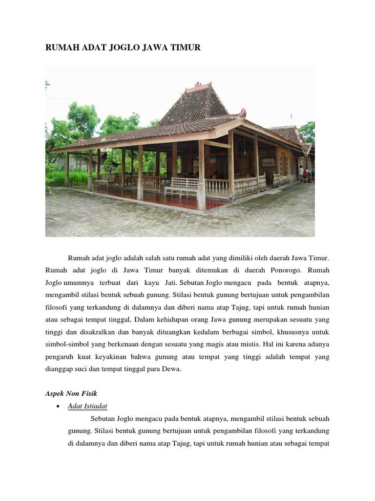 Rumah Adat Joglo Jawa Timur