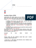 Penjelasan Factor Analysis