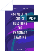 444 QUESTIONS ( Pharmacy Training) By Nehad Jaser Ahmed
