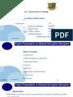 Project Presentation on Elgamal