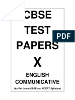 10 English Communicative Test Papers Demo