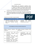 Analisis Silabus Redoks Kelas Xii