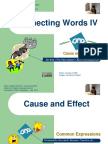 English Connecting Words (Causa y Efecto)