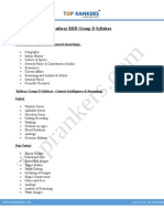 Railway RRB Group D Syllabus PDF