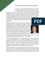 Balance positivo en Internacionalización para la Facultad Nacional de Salud Pública