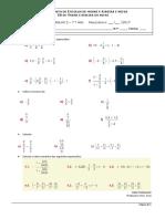 multiplicação edivisão números racionais