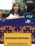 Teaching Business Writing (Writing for Impact) Unit 2B