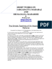 Short Works on Sri Nisargadatta Maharaj and Sri Ramana Maharshi