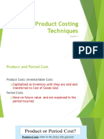Product Costing Techniques
