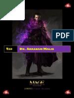 Dr. Abraham Malik - Historia de Personaje. Mago La Ascensión 3Ed. Mundo de Tinieblas.