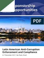 Sao Paulo Anticorruption 2017 Sponsorship Opps