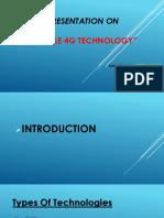 Presentation on 4G Technology