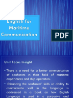 English for Maritime Communication