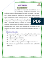 """Working Capital Management Mahindra & Mahindra Ltd"