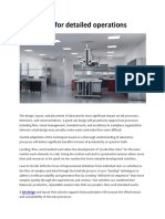 Lab Design for detailed operations