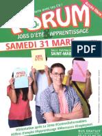 Forum Jobs Ete & Apprentissage 2018